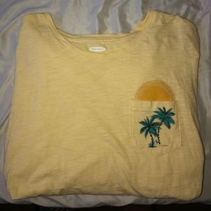 Old Navy XXL Long Sleeve Palm Tree 🏝 Top